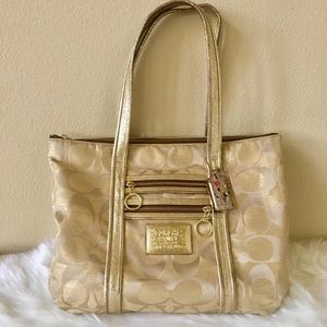 Coach Handbag (Op Art Glam in Gold)